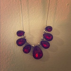 Ruby red with tear drops necklace